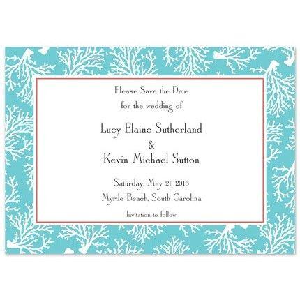 Teal Coral Invitation