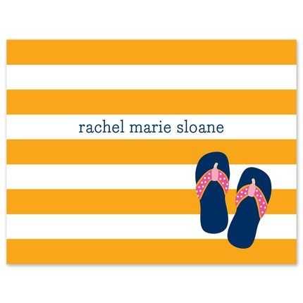 Stripe Flip Flops Note Card