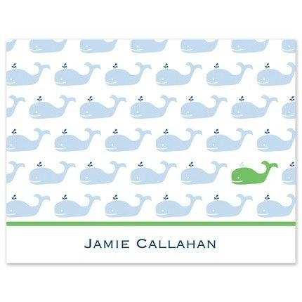 Whale Repeat Note Card