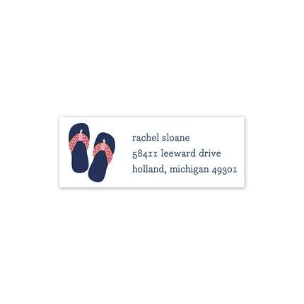 Flip Flops Address Label