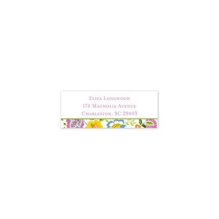 Floral Bright Address Label