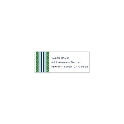 Grosgrain Blue Address Label