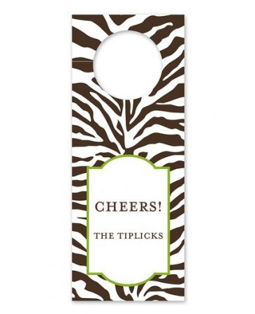 Zebra Brown Wine Tag