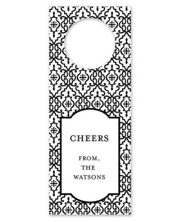 Wrought Iron Black Wine Tag