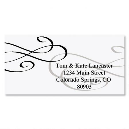 Tiffany Border Custom Address Labels
