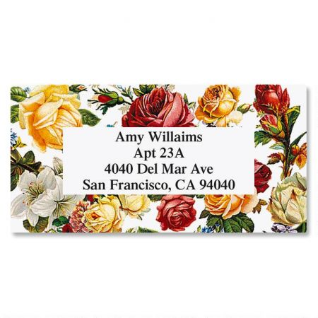 Victorian Rose Border Custom Address Labels