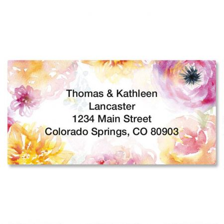 Pretty Posy Border Custom Address Labels