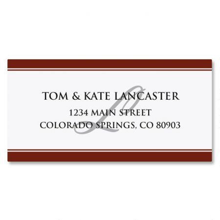 Classic Red Border Custom Address Labels