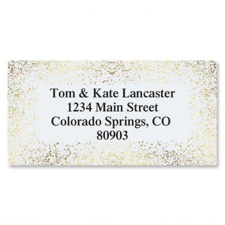 Gold Speckles Foil Border Custom Address Labels
