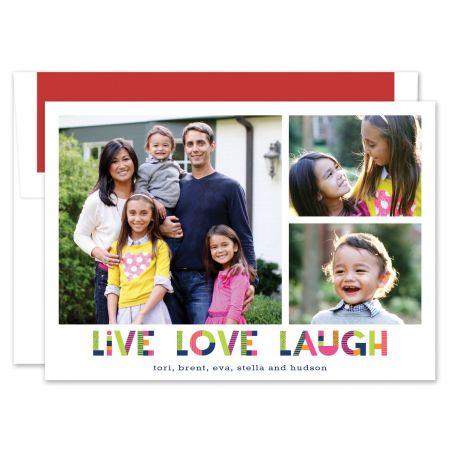 Upbeat Live Love Laugh Photo Card