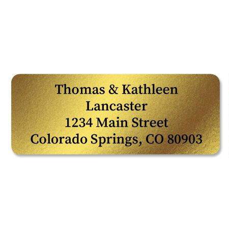 Gold Foil Custom Address Labels