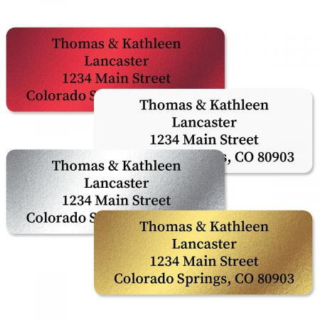 Foil Assortment Custom Address Labels  (4 Colors)