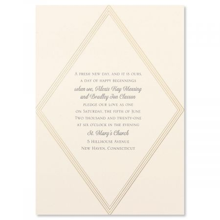 Elegant Geometric Invitation