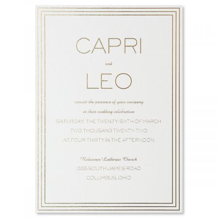 Lovely Marble Invitation