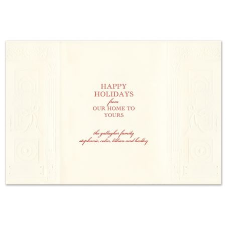 Holiday Entrance Greeting Card