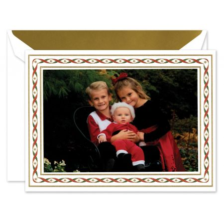 Woven Ribbons Mounted Photo Card