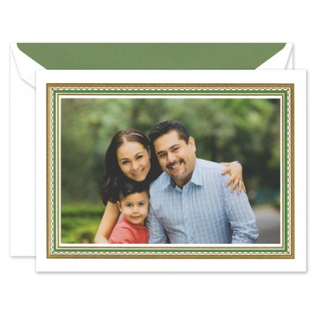 Clover and Gold Lace Mounted Photo Card