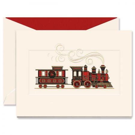 Christmas Train Greeting Card
