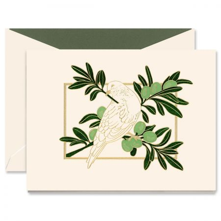 Dove in Olive Tree Greeting Card