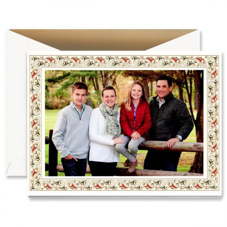 Florentine Border Mounted Photo Card