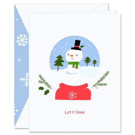 Diecut Snowglobe Holiday Greeting Cards Boxed Set