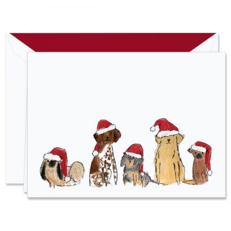 Digital Santa Dogs Holiday Greeting Cards Boxed Set