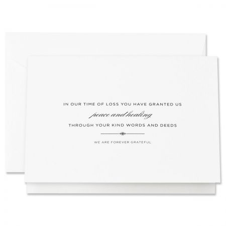 Engraved Sympathy Acknowledgement Note Cards Boxed Set