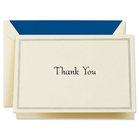 Regent Blue Triple Hairline Thank You Cards Boxed Set