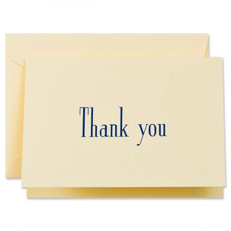 Navy Thank You Cards Boxed Set