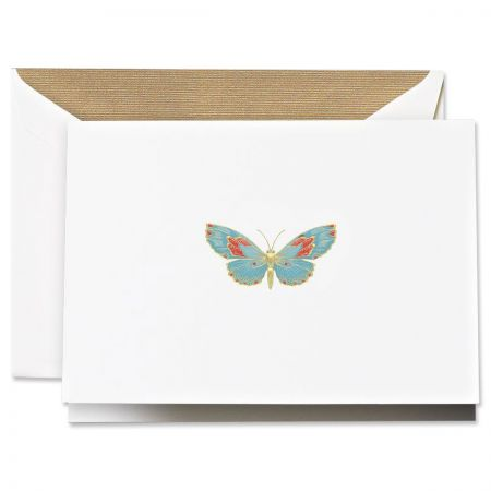 Engraved Butterfly Note Cards Boxed Set