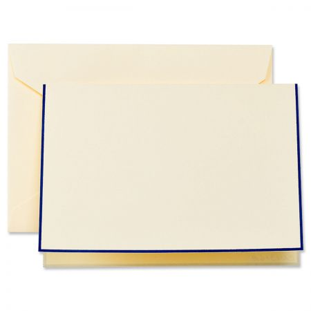 Regent Blue Bordered Ecru Note Cards Boxed Set
