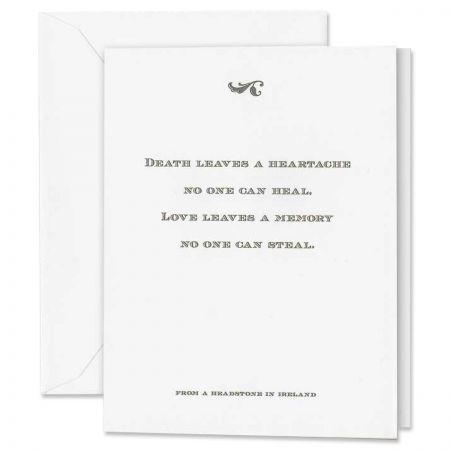 Heartache Quotation Sympathy Card