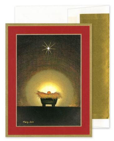 Star & Creche Greeting Card