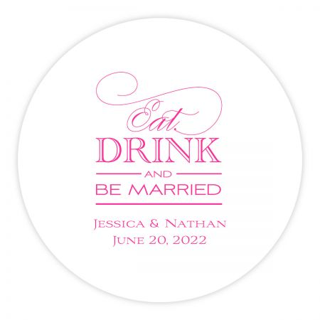 Customized Letterpress Coasters Eat Drink Be Married