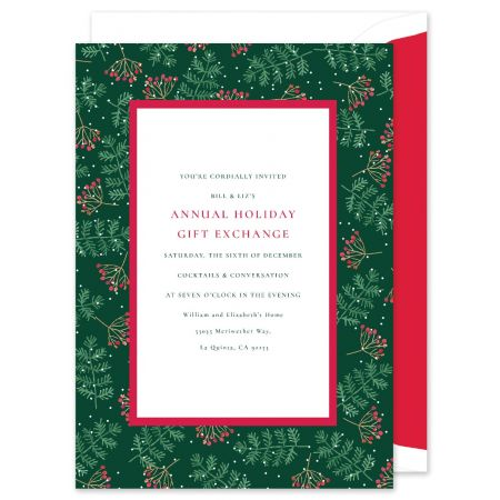 Holly and Pine Invitation