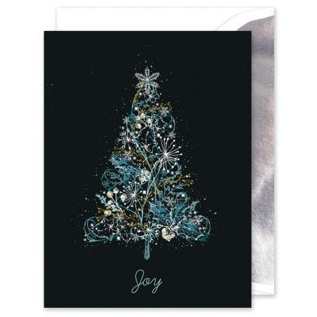 Merry and Bright Tree Greeting Card