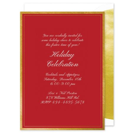 Gold Foil Frame Invitation