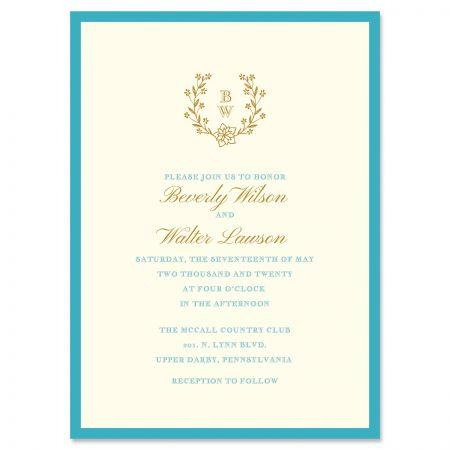 Laurel Monogram Invitation