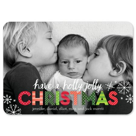 Big Holly Jolly Holiday Photo Card