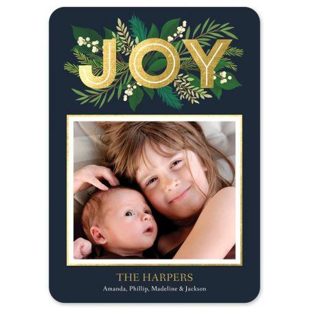 Elegant Joy Holiday Photo Card