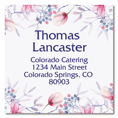 Tender Large Square Custom Address Label