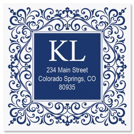 Simple Elegance Large Square Custom Address Label