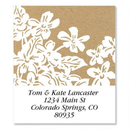 Kraft Flowers Select Custom Address Labels