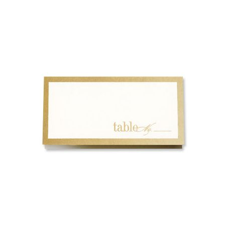 Gold Bordered Place Card