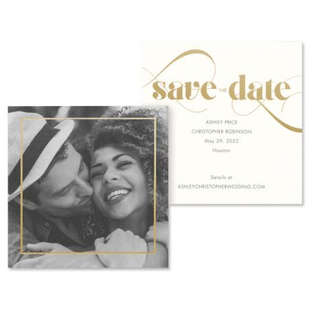 Small Square Save the Date Card