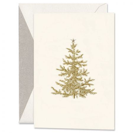 Engraved Holiday Tree Holiday Greeting Cards Boxed Set