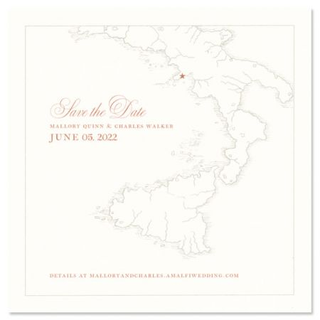 Large Square Oyster Digital Save the Date