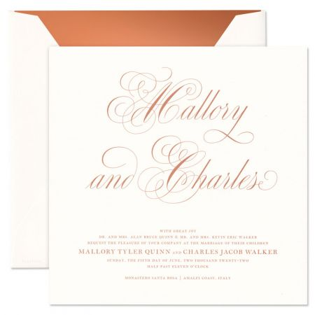 Extra Large Square Oyster Invitation