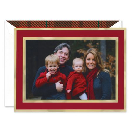 Crimson And Gold Mounted Photo Card