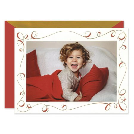 Swirl Ribbon Mounted Photo Card